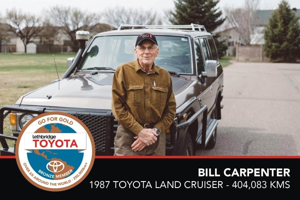 GFG. Bronze. Bill Carpenter. 1987 Toyota Land Cruiser. 404,083. July 2017