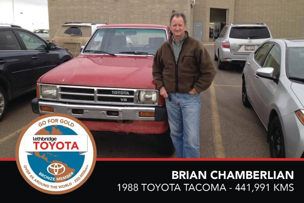 GFG. Bronze. Brian Chamberlain. 1988 Toyota Tacoma. 441,991 KM. July 2017