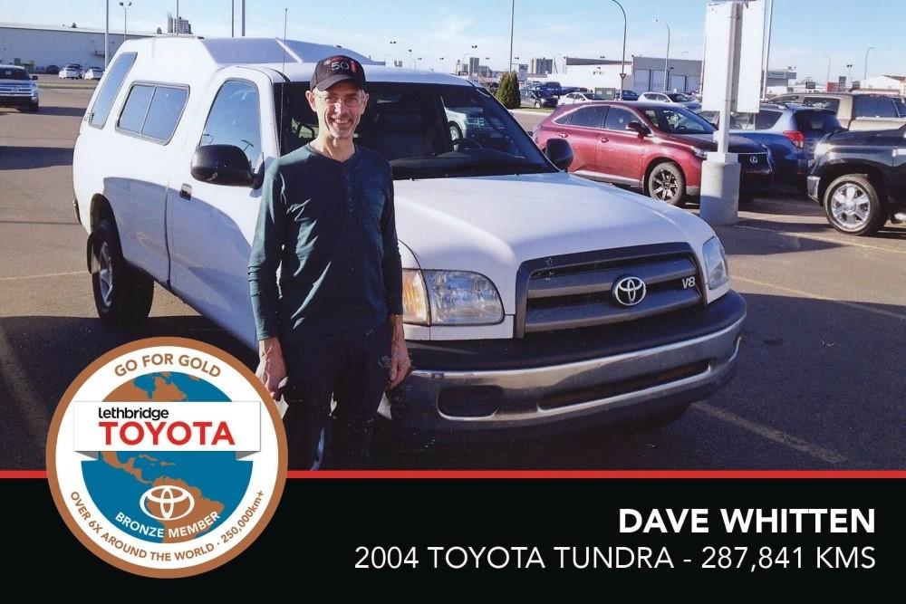 GFG. Bronze. Dave Whitten. 2004 Toyota Tundra. 287 841 KM. July 2017