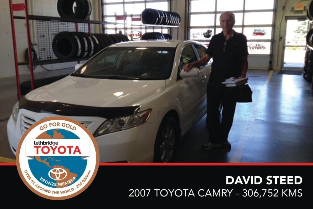GFG. Bronze. David Steed. 2007 Toyota Camry. 306 752 KM. July 2017