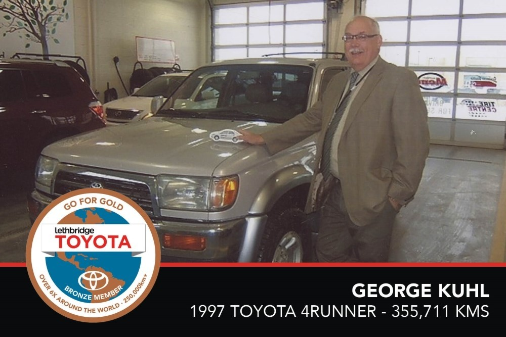 GFG. Bronze. George Kuhl. 1997 Toyota 4Runner. 355 711 KM. July 2017