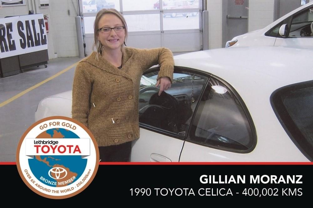 GFG. Bronze. Gillian Moranz. 1990 Toyota Celica. 400,002 KM. July 2017