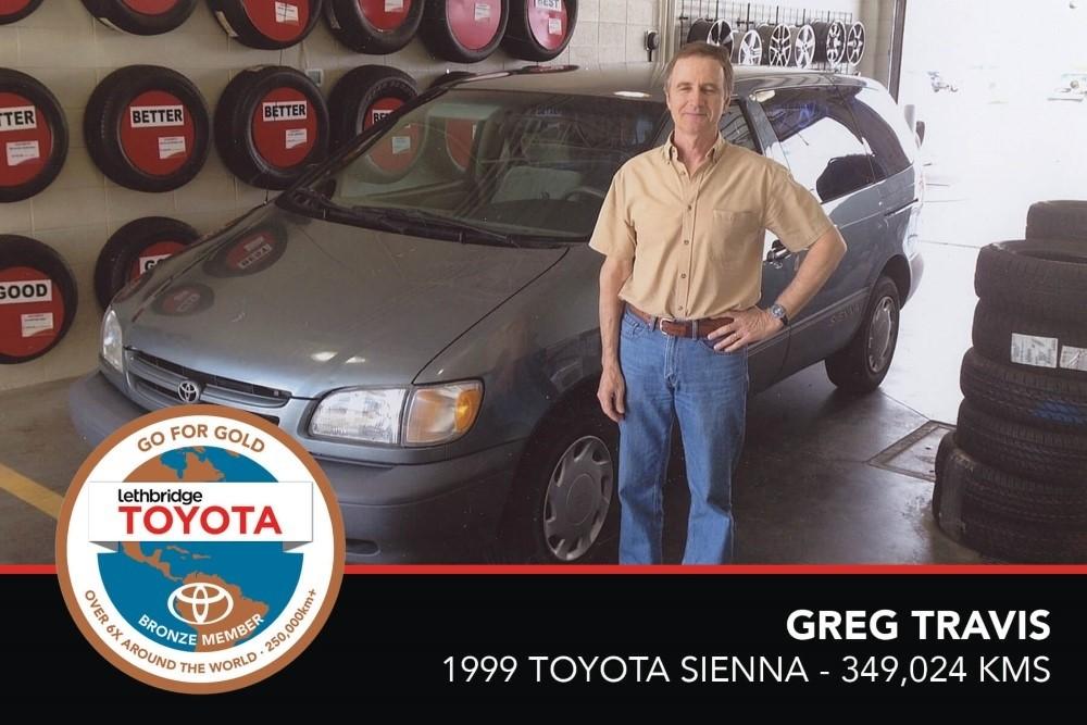 GFG. Bronze. Greg Travis. 1999 Toyota Sienna. 349 024 KM. July 2017