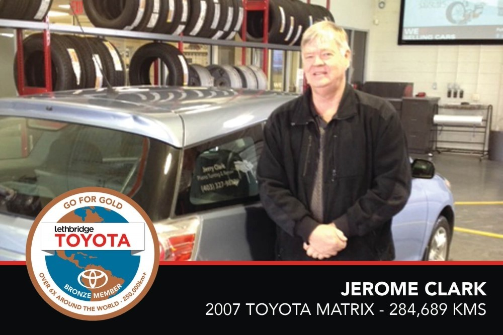 GFG. Bronze. Jerome Clark. 2007 Toyota Matrix. 284 689 KM. July 2017