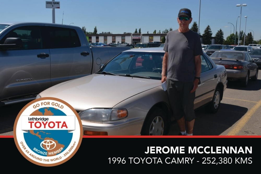 GFG. Bronze. JeromeMcclennan. 1996 Toyota Camry. 252 380. July 2017
