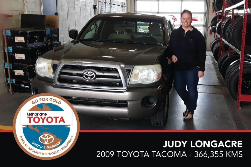 GFG. Bronze. Judy Longacre. 2009 Toyota Tacoma. 366,355 KM