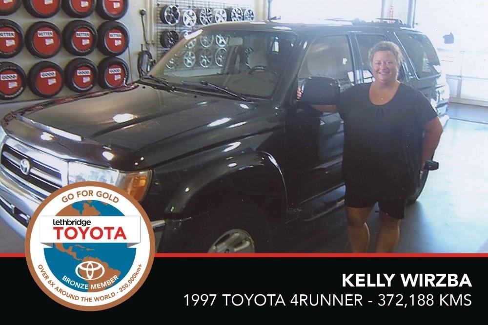 GFG. Bronze. Kelly Wirzba. 1997 Toyota 4Runner. 372 188 KM. July 2017