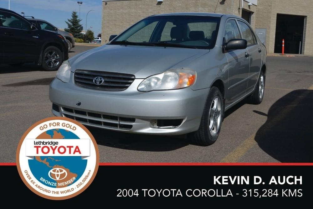 GFG. Bronze. KevinDAuch. 2004 Toyota Corolla. 315 284.August2017