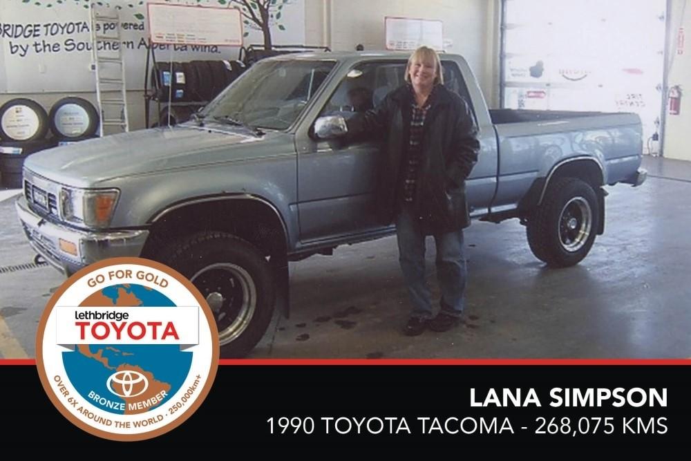 GFG. Bronze. Lana Simpson. 1990 Toyota Tacoma. 268 075 KM. July 2017