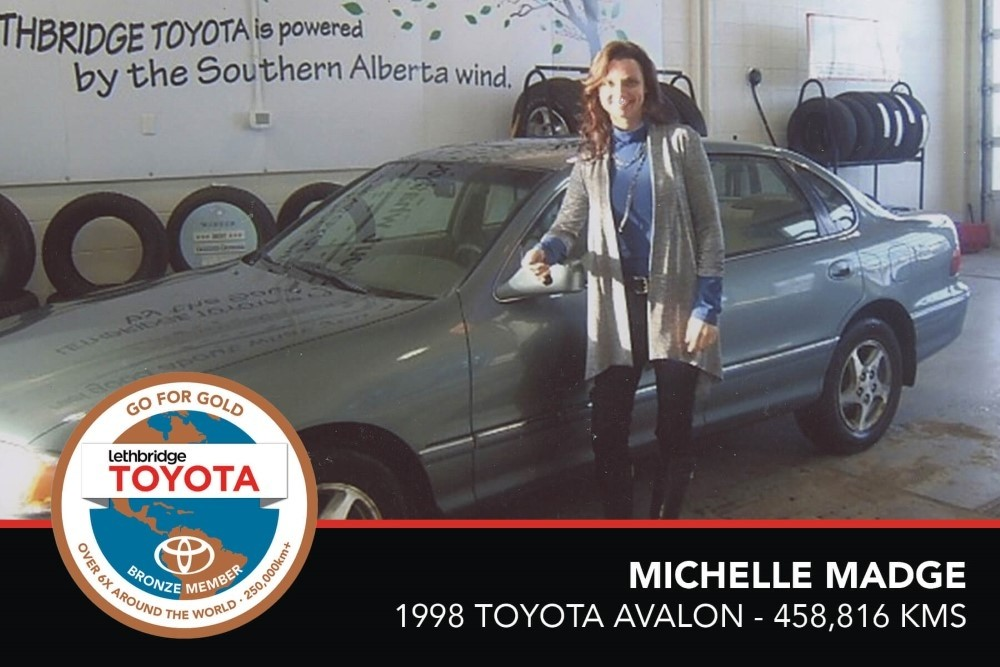 GFG. Bronze. Michelle Madge. 1998 Toyota Avalon. 458 816 KM. July 2017