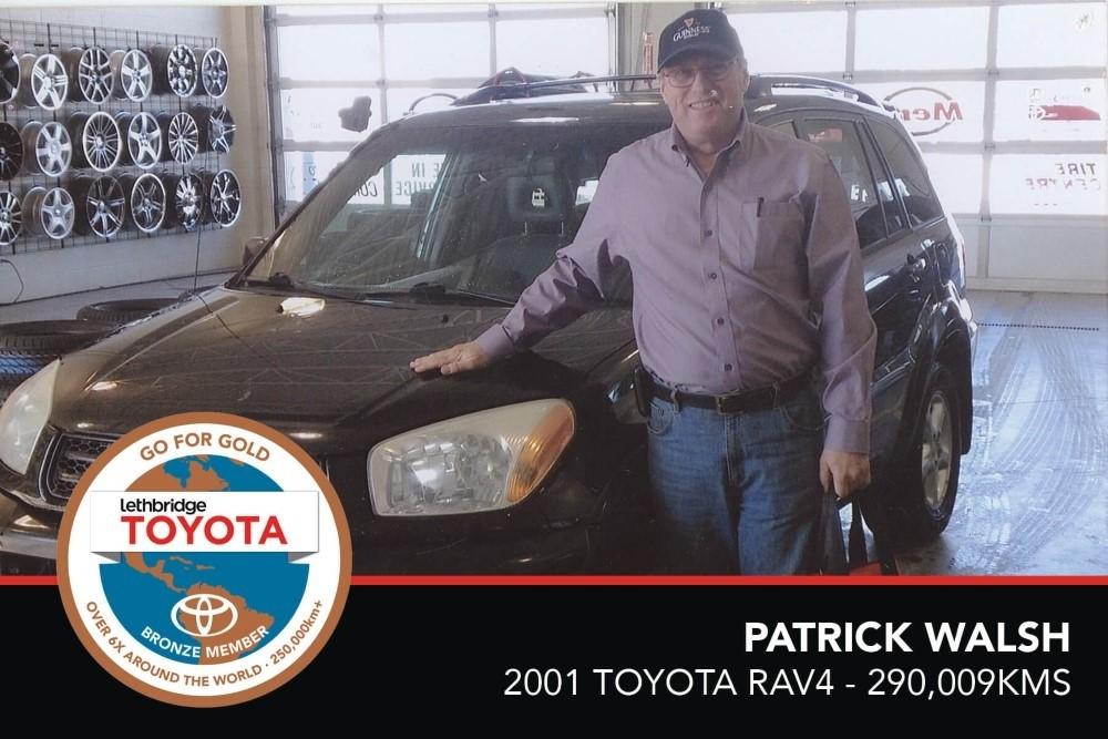 GFG. Bronze. Patrick Walsh. 2001 Toyota Rav4. 290 009 KM. July 2017