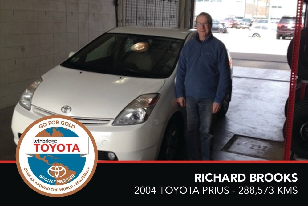 GFG. Bronze. Richard Brooks. 2004 Toyota Prius. 288, 573 KM. July 2017