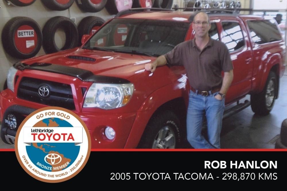 GFG. Bronze. Rob Hanlon. 2005 Toyota Tacoma. 298 870 KM. July 2017