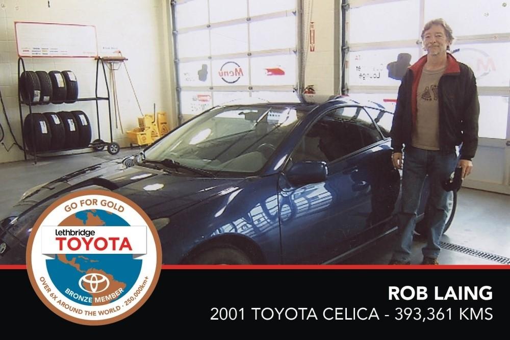 GFG. Bronze. Rob Laing. 2001 Toyota Celica. 393 361 KM. July 2017