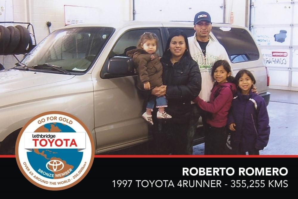 GFG. Bronze. Roberto Romero. 1997 Toyota 4Runner. 355 255 KM. July 2017