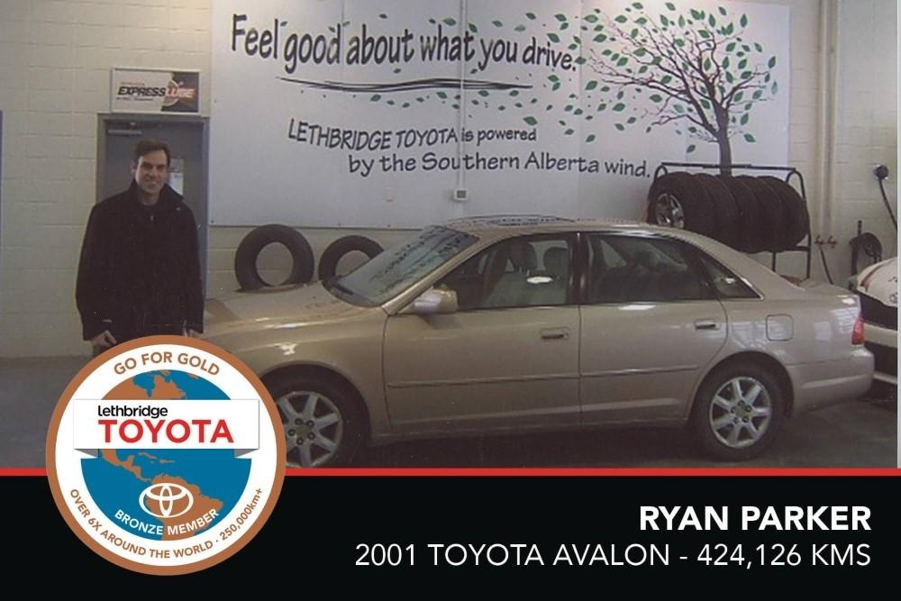GFG. Bronze. Ryan Parker. 2001 Toyota Avalon. 424 126 KM. July 2017