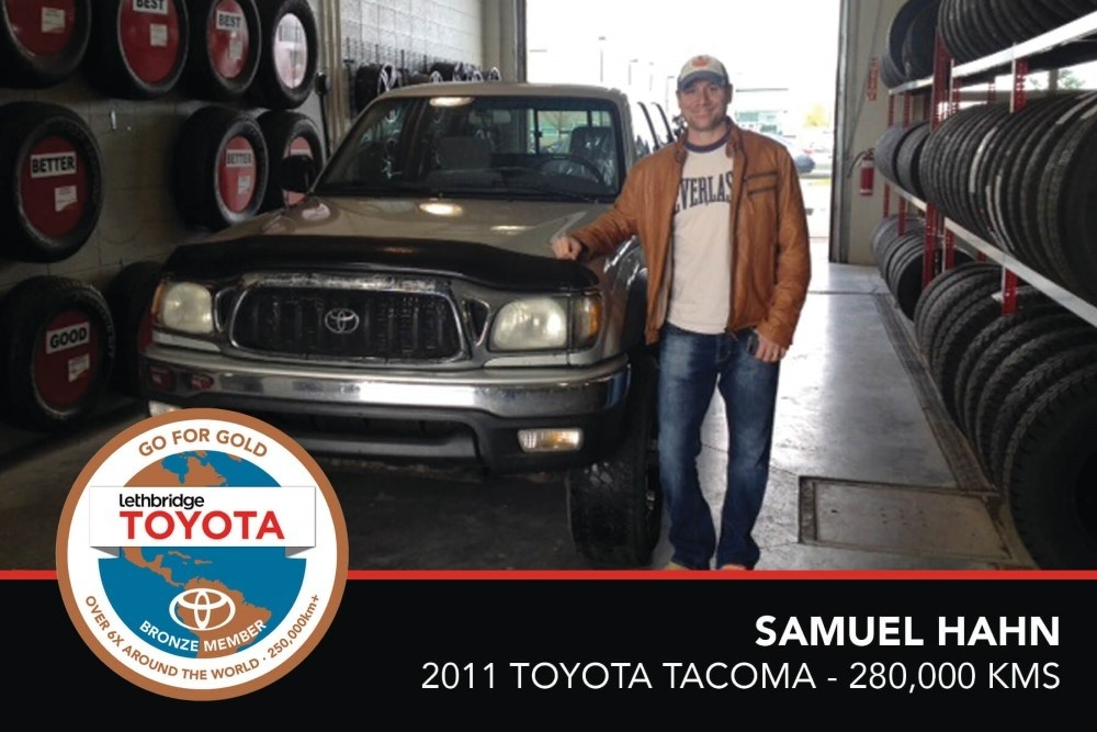 GFG. Bronze. Samuel Hahn. 2001 Toyota Tacoma. 280 000. July 2017