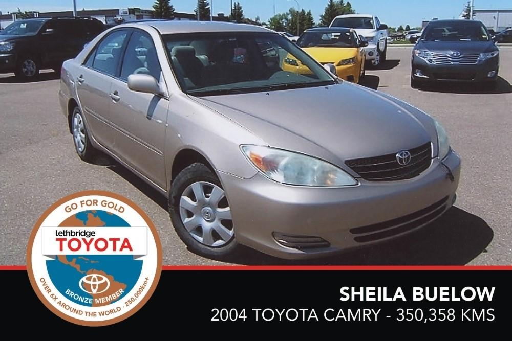 GFG. Bronze. Sheila Buelow. 2004 Toyota Camry. 350 358 KM. July 2017