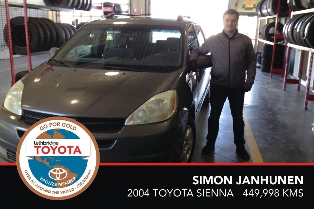 GFG. Bronze. Simon Janhunen. 2004 Toyota Sienna. 449 998 KM. July 2017