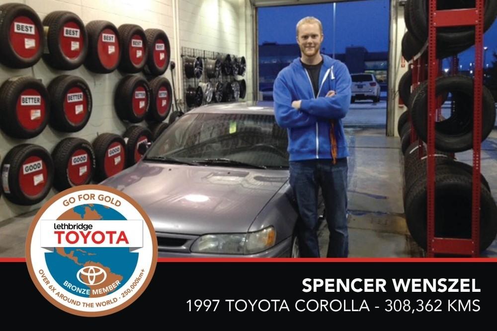 GFG. Bronze. Spencer Wenszel. 1997 Toyota Corolla. 308, 362 KM. July 2017