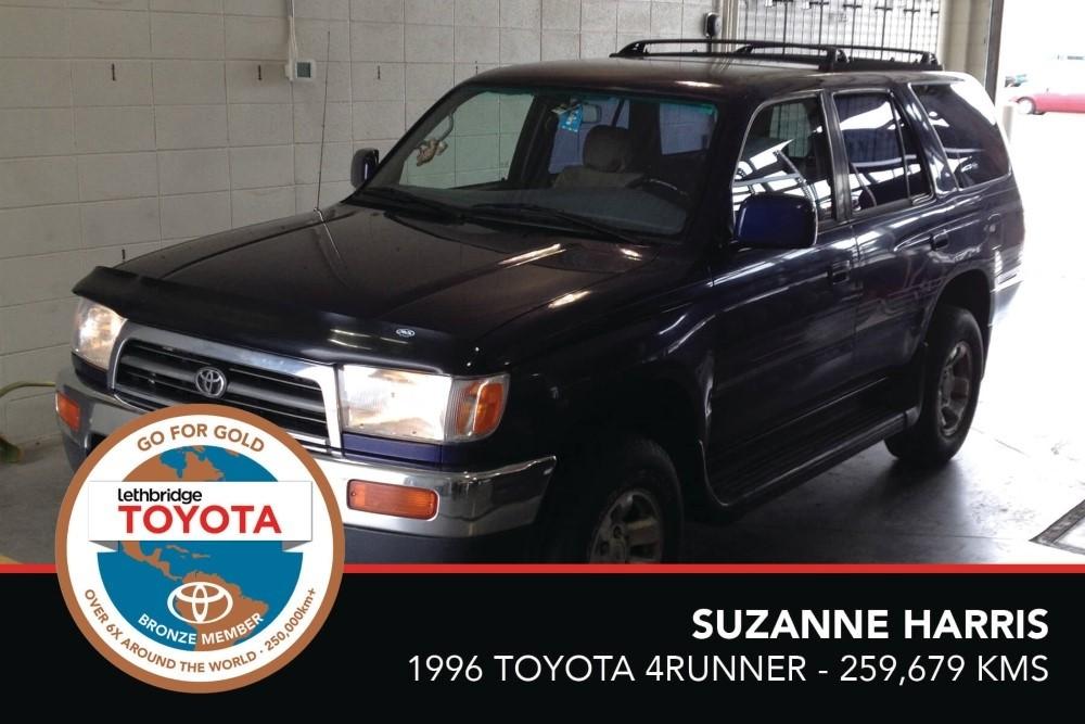 GFG. Bronze. Suzanne Harris. 1996 Toyota 4Runner. 259 679 KM. July 2017