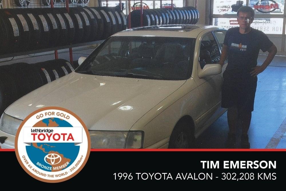 GFG. Bronze. Tim Emerson. 1996 Toyota Avalon. 302 208 KM. July 2017