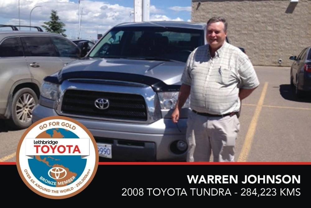 GFG. Bronze. Warren Johnson. 2008 Toyota Tundra. 284 223 KM. July 2017