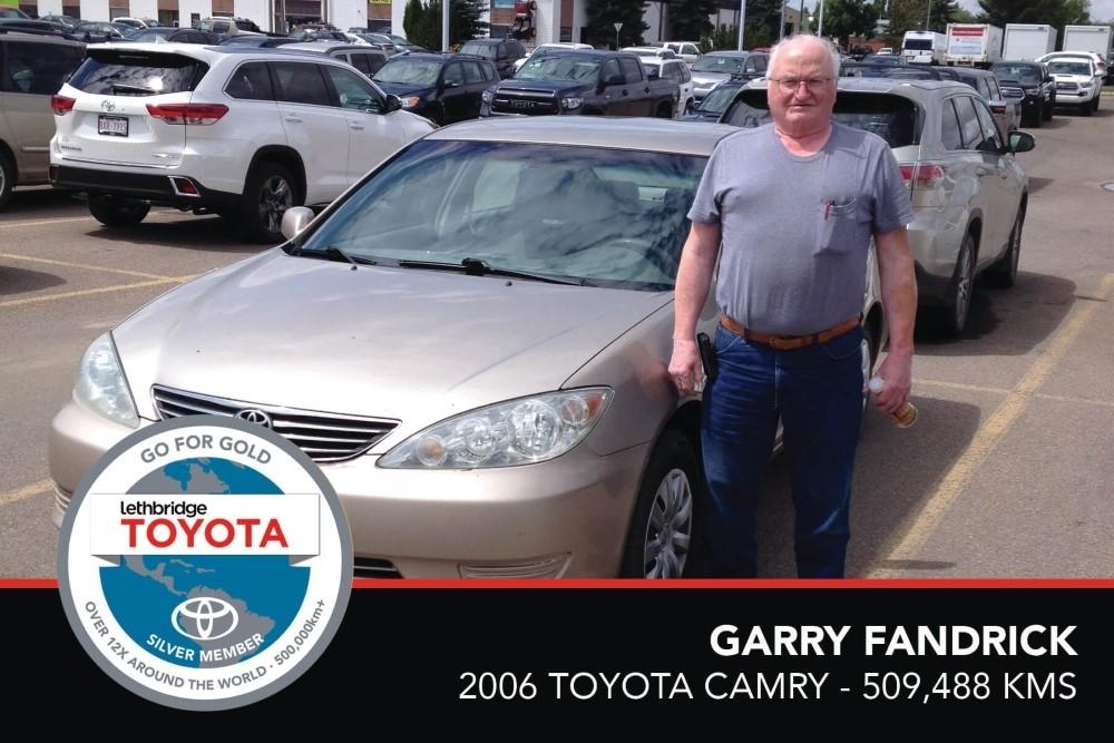GFG. Silver. Garry Fandrick. 2006 Toyota Camry. 509 488. July 2017.
