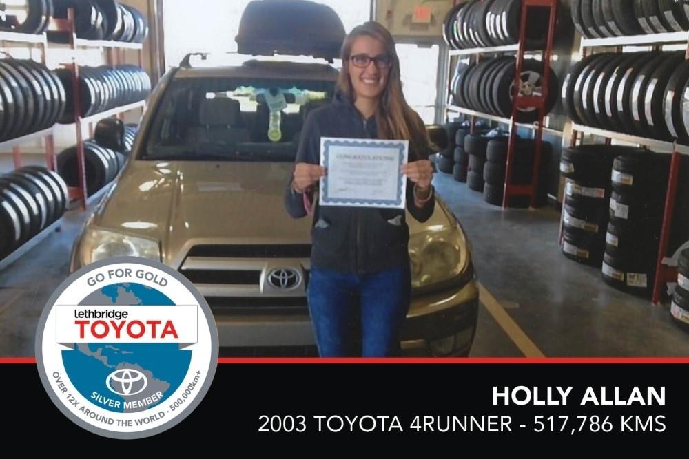 GFG. Silver. Holly Allan. 2003 Toyota 4Runner. 517 786 KM. July 2017