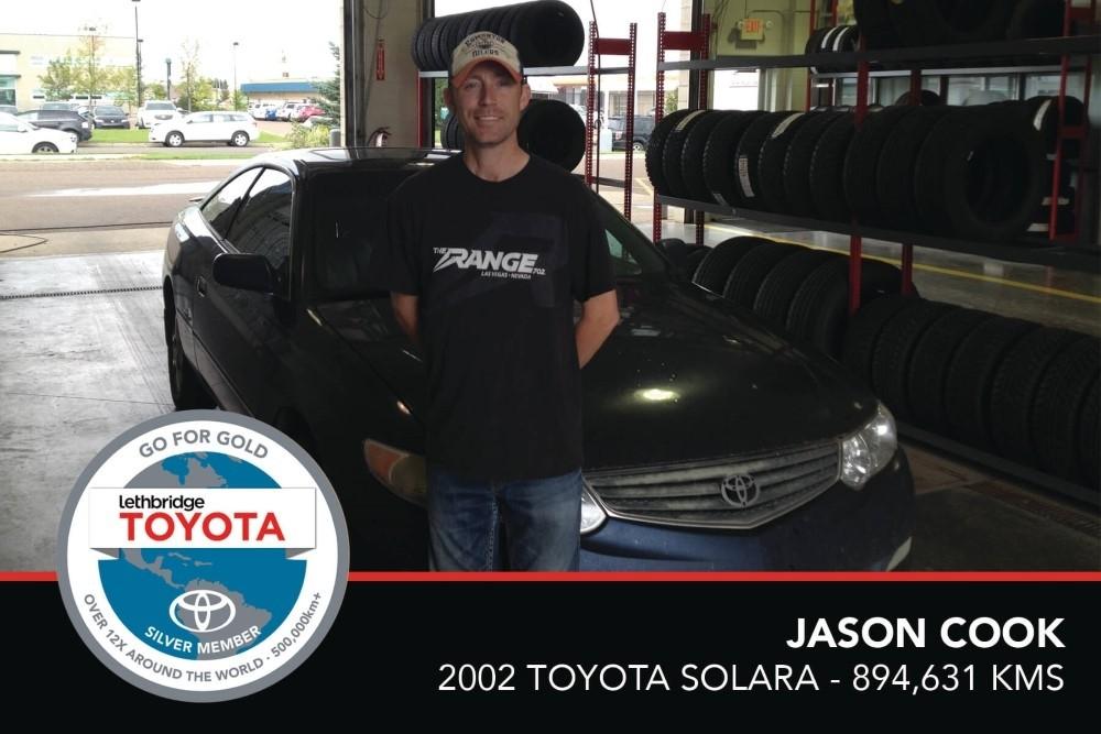 GFG. Silver. Jason Cook. 2002 Toyota Solara. 894 631 KM. July 2017