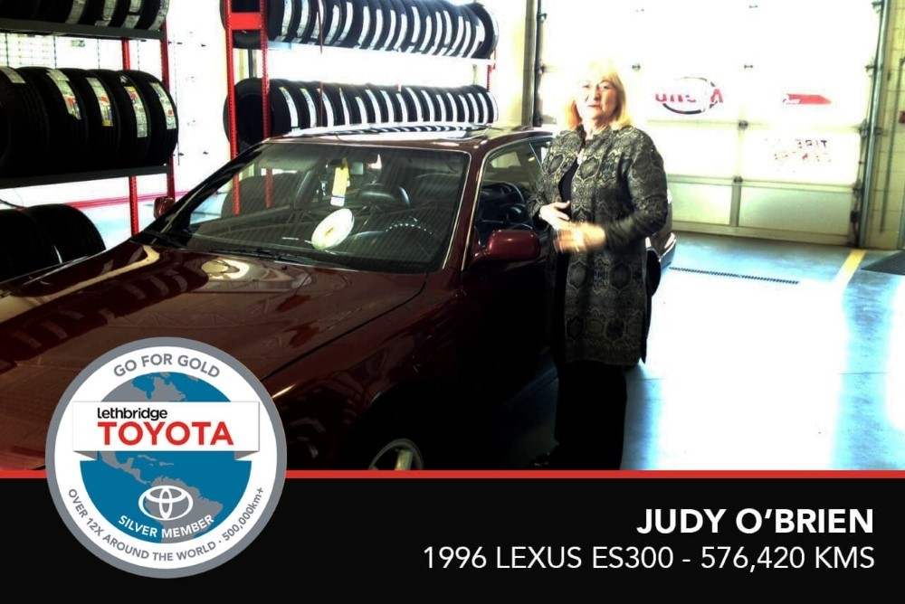 GFG. Silver. Judy OBrien. 1996 Lexus Es300. 576,420 KM. July 2017