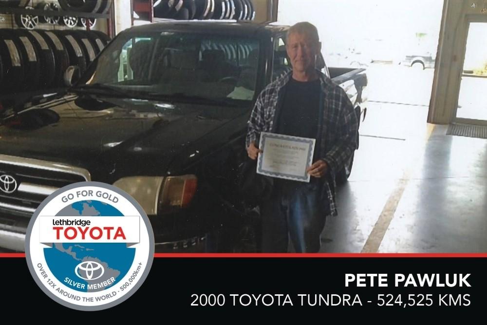GFG. Silver. Pete Pawluk. 2000 Toyota Tundra. 524 525 KM. July 2017