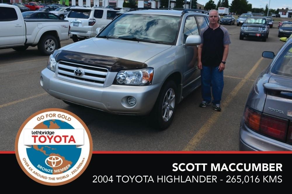 GFG.Bronze. Scott Maccumber. 2004 Toyota Highlander. 265 016. July 2017.