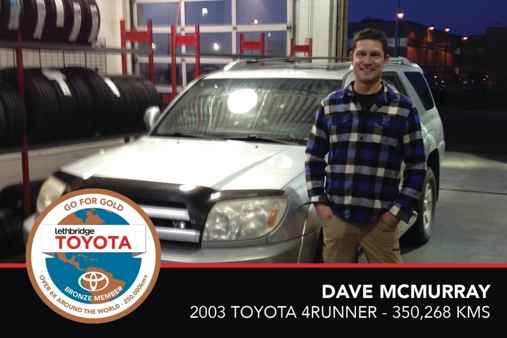 GFG.Dave McMurray. 2003 Toyota 4Runner. 350 268 KM. July 2017
