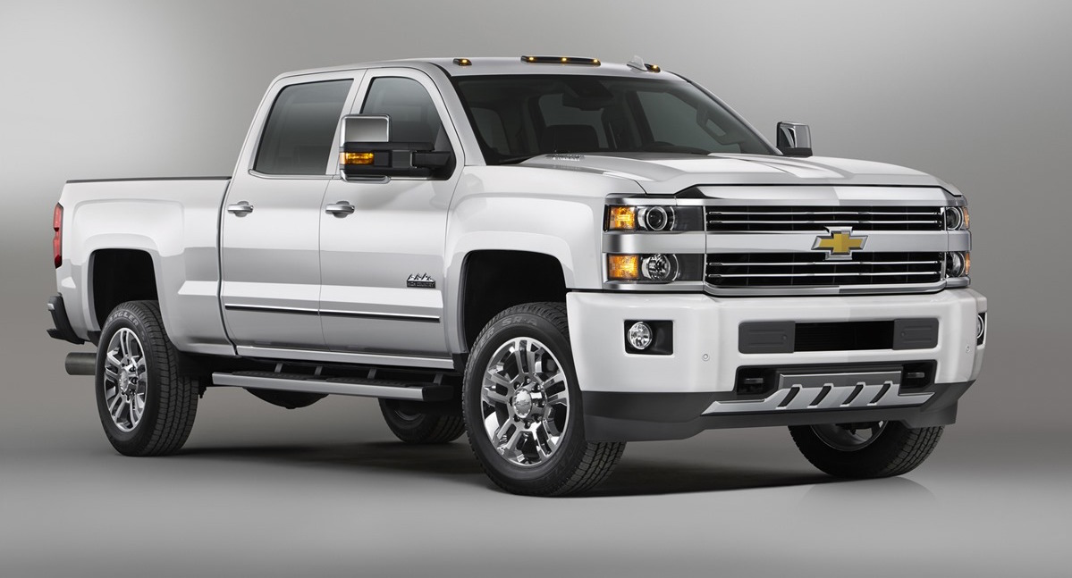 White 2010 Used Chevy Silverado 2500HD on gray background