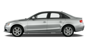 Profile of a Silver 2009 Used Audi A4