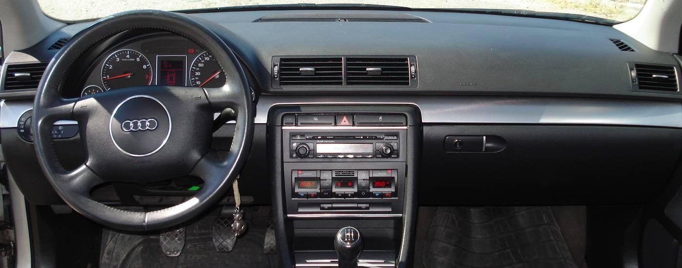 A closeup of a 2002 Used Audi A4 Interior dashboard
