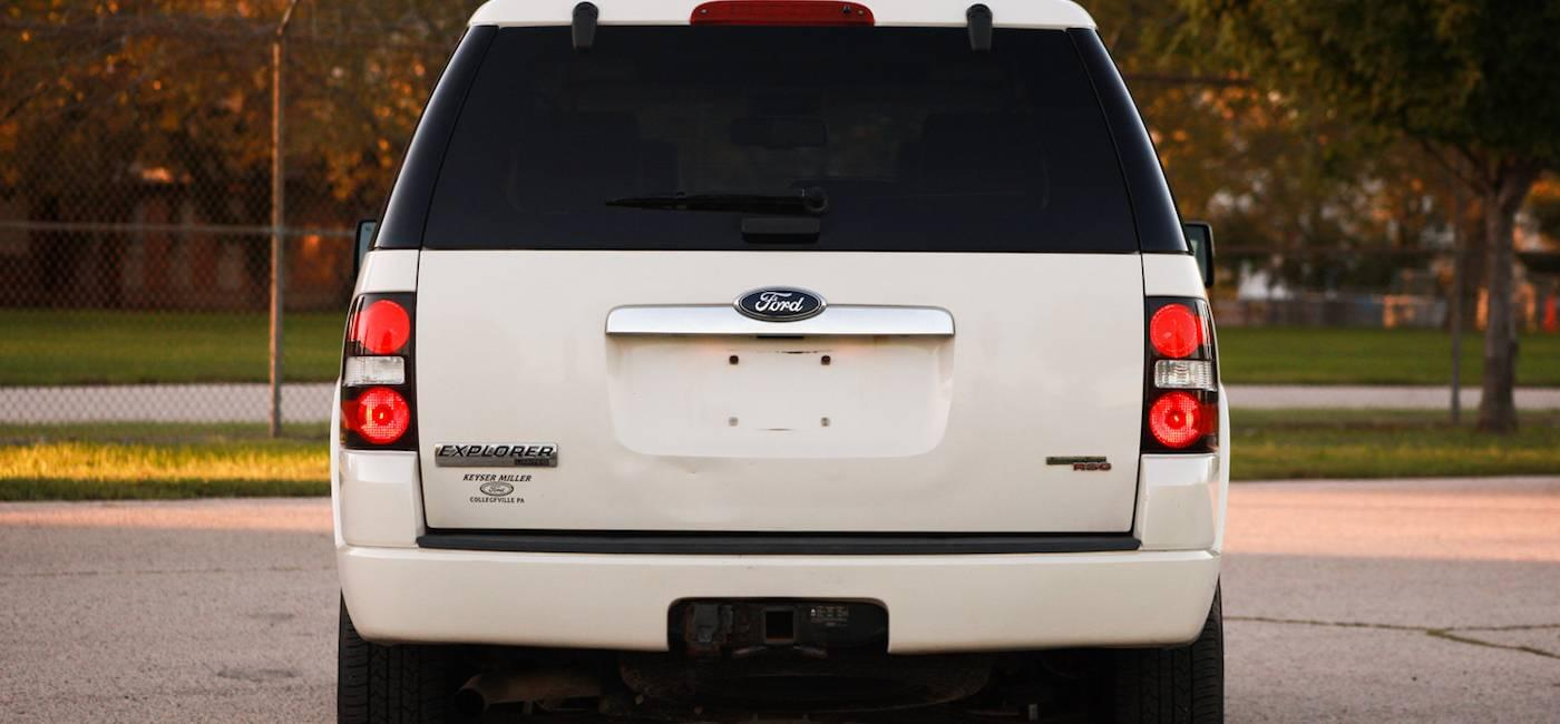 White 2007 Used Ford Explorer parked next to public park