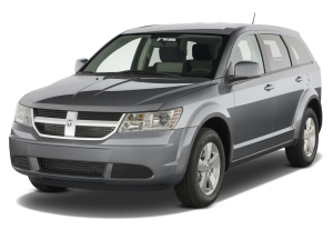 Silver 2009 Used Dodge Journey angled left
