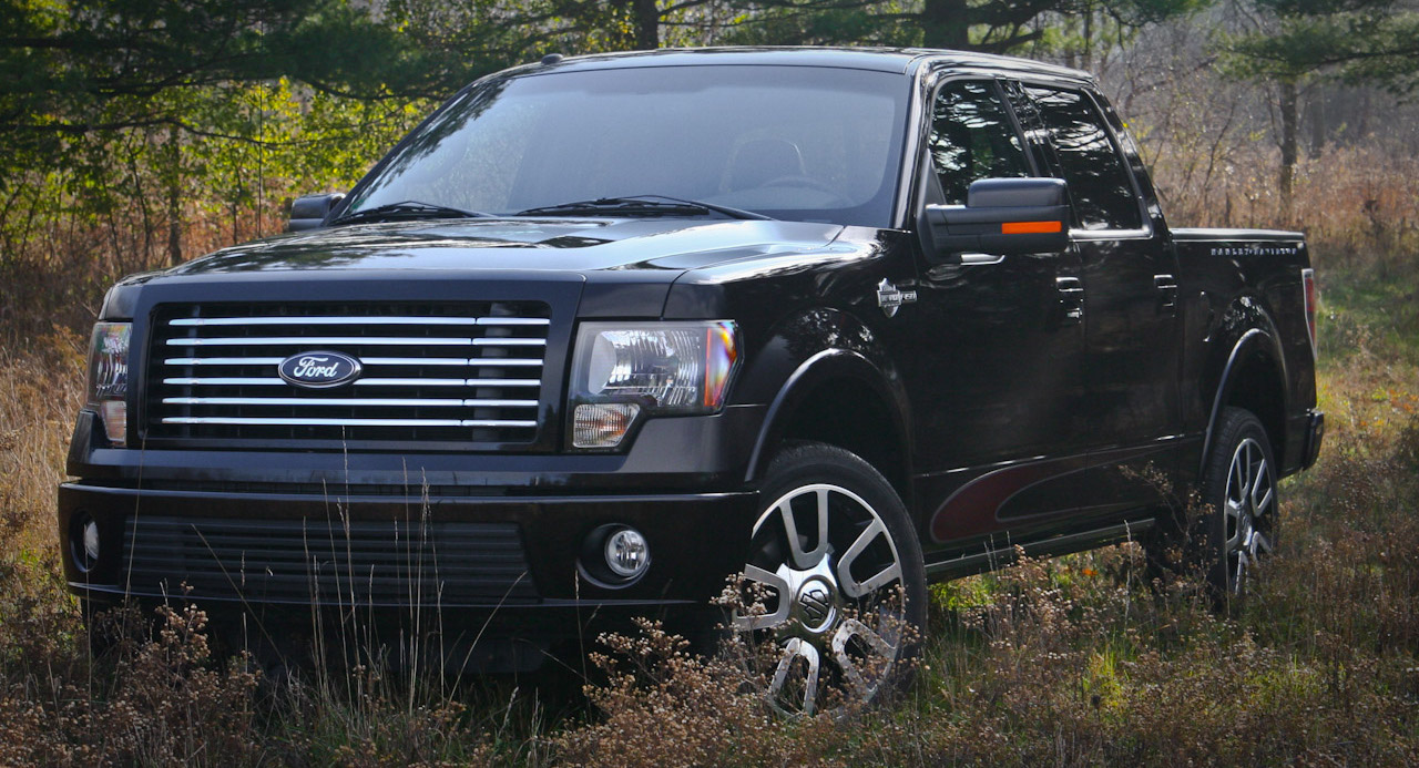 Black 2010 used Ford F-150 Harley-Davidson in an overgrown field