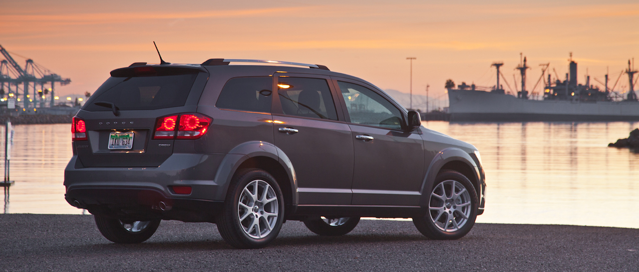 Gray 2013 Used Dodge Journey at a marina at sunset