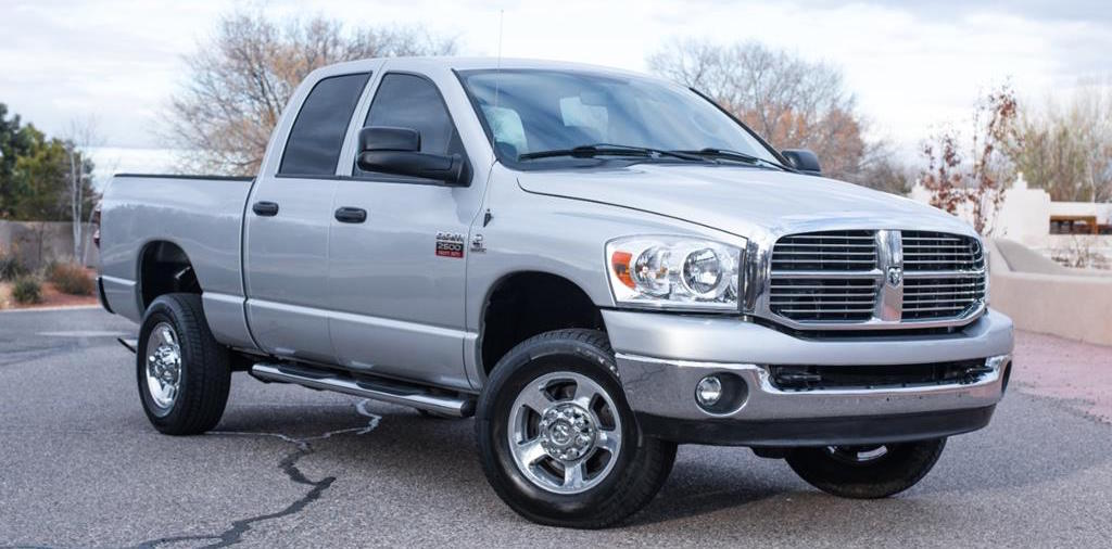 Silver 2008 Used RAM 2500 in parking lot