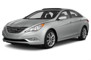 Silver 2013 Used Hyundai Sonata angled left