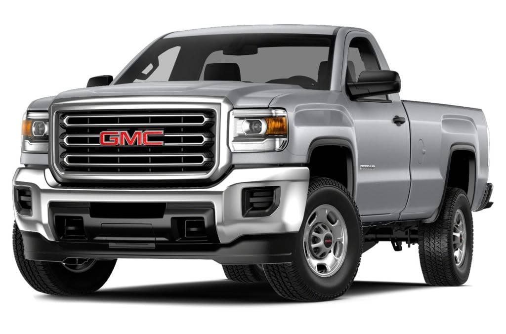 Silver 2015 Used GMC Sierra 2500HD angled left