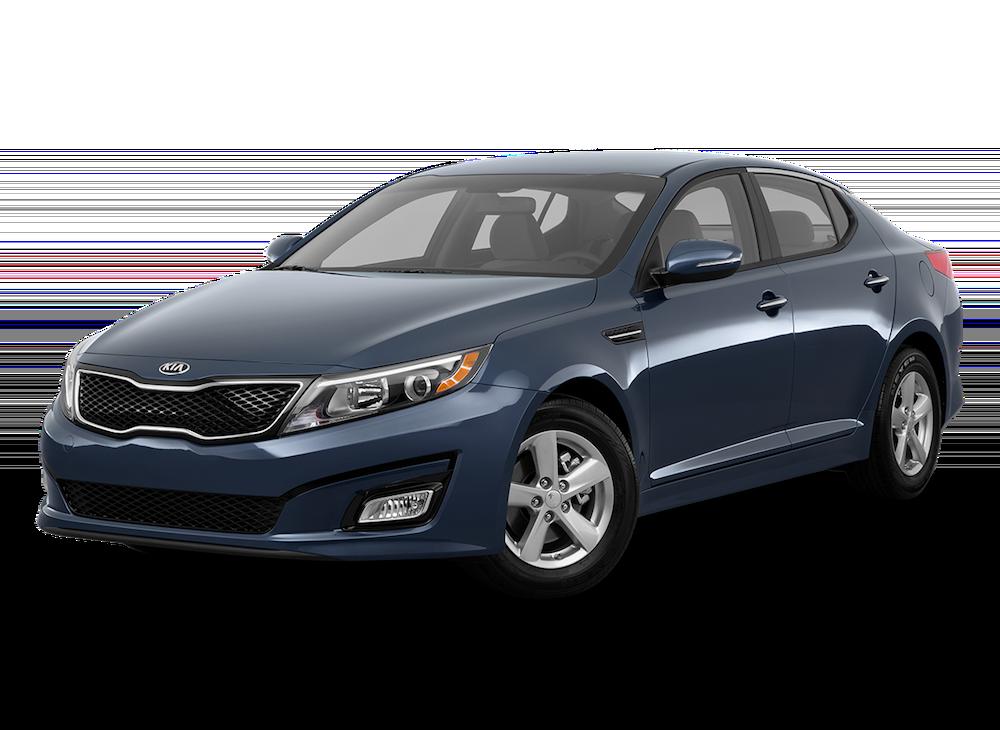 Blue 2015 Used Kia Optima angled left