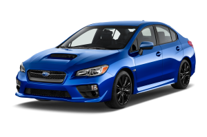 Blue 2016 Used Subaru WRX angled left