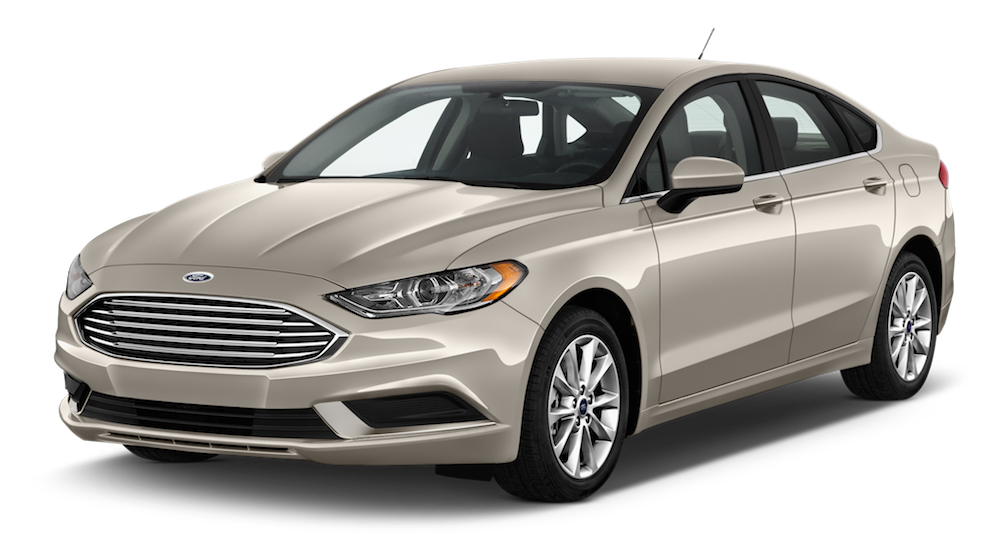 Beige 2017 Used Ford Fusion angled left
