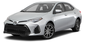 Silver 2017 Used Toyota Corolla angled left