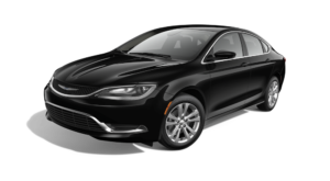 Black 2015 Used Chrysler 200 angled left