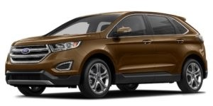 Gold Used Ford Edge angled left